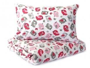 """Medvilninis pagalvės užvalkalas """"Paukšteliai"""" (40x60 cm, 1 vnt)"""