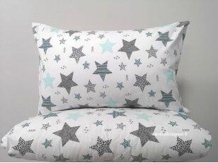 """Medvilninis pagalvės užvalkalas """"Žvaigždžių burtai"""" (mėtinis) (40x60 cm, 1 vnt)"""