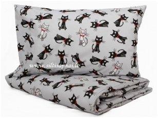 """Medvilninis patalynės komplektas vaikams """"Maži kačiukai"""" (110x140 cm)"""