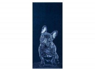 """Medvilninis rankšluostis """"Buldogas"""" (67x150 cm)"""