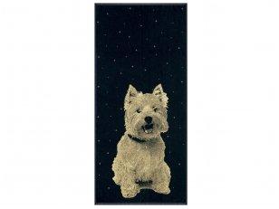 """Medvilninis rankšluostis """"White terrier"""" (67x150 cm)"""