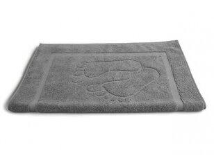"""Medvilninis vonios kilimėlis """"Pėdutės"""" (pilkas, 50x70 cm)"""