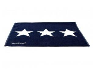 "Medvilninis vonios kilimėlis ""Stars"" (navy)"