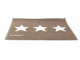 "Medvilninis vonios kilimėlis ""Stars"" (brown)"