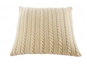 """Megztas merinosų vilnos dekoratyvinės pagalvėlės užvalkalas """"Klasika"""""""