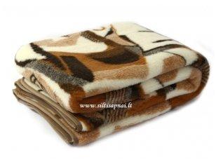 Merinosų avių vilnos pledas-antklodėlė