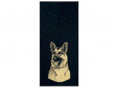 """Medvilninis rankšluostis """"German Shepherd"""" (67x150 cm)"""