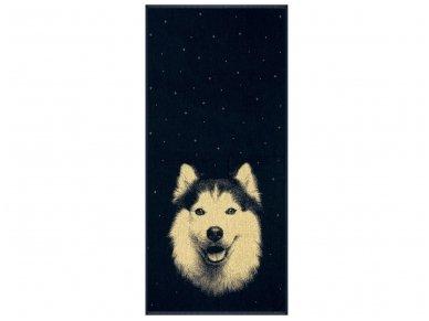 """Medvilninis rankšluostis """"Husky"""" (67x150 cm)"""