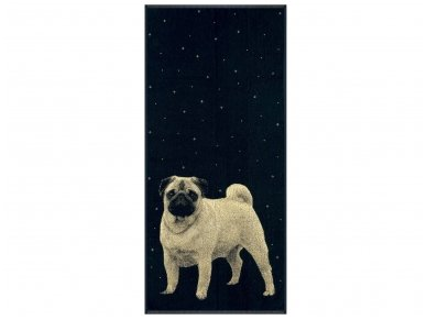 """Medvilninis rankšluostis """"PUG"""" (67x150 cm)"""