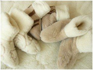 Natūralios vilnos aulinukai - namų batai