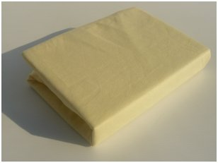 Neperšlampama paklodė su guma 60x120 cm (geltona)