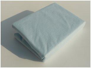 Neperšlampama paklodė su guma 60x120 cm (žydra)