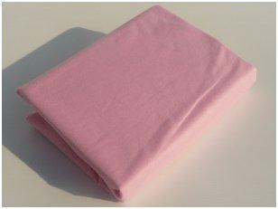 Neperšlampama paklodė su guma 60x120 cm (rožinė)