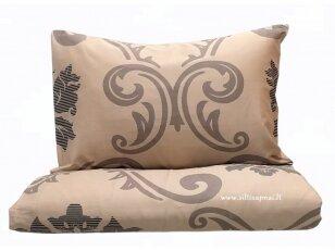 """NUKAINOTAS mako satino patalynė """"Vakaras"""" (140x200 cm, 50x70 cm). Nukainavimo priežastis - nežymus pagalvės užvalkalo defektas."""