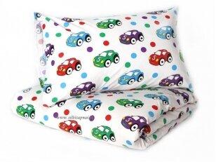 """Pagalvėlė su pagalvės užvalkalu """"Mažos mašinėlės"""" (40x40 cm)"""