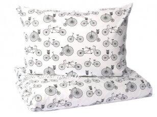 """Pagalvėlė su pagalvės užvalkalu """"Dviračiai"""" (40x40 cm)"""