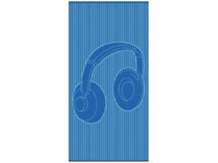 """Paplūdimio rankšluostis """"Ausinės"""" (mėlynas)"""