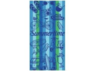 "Paplūdimio rankšluostis ""Summertime"" (melsva)"