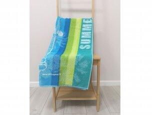 """Paplūdimio rankšluostis """"Vasara prie jūros"""" (75x150 cm)"""