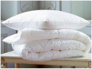RINKINYS vaikiška žieminė 90% pūkų ir 10% plunksnų antklodė ir pagalvė