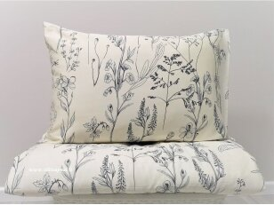 "Dvipusis satino pagalvės užvalkalas ""Smilgos""/ ""DISCOVERY"" (dark grey) 40x60 cm (2 vnt.)"