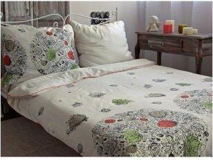 """PREMIUM satino pagalvės užvalkalas """"Pievų paslaptis"""" 50x70 cm ( su užtrauktukais, 3 vnt.)"""