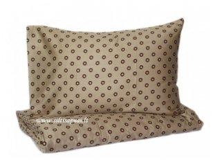 """Satino pagalvės užvalkalas """"Riešutų žydėjimas"""" (60x60 cm - 2 vnt)"""