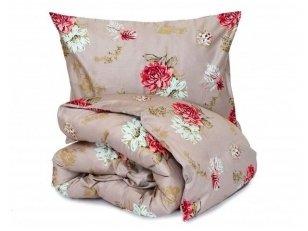 """Satino pagalvės užvalkalas """"Žavūs bijūnai"""" (50x70 cm - 2 vnt)"""