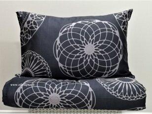 """Satino pagalvės užvalkalas """"Mantra"""" (tamsiai pilkas) 50x70 cm, 1 vnt su užtrauktuku"""