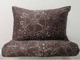 """Satino pagalvės užvalkalas """"Paslaptingi žiedai"""" (šviesiai rudas) 50x70 cm, 1 vnt"""