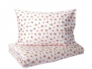 """Satino pagalvės užvalkalas  """"Žiedų lietus""""  50x70 cm (1 vnt.)"""