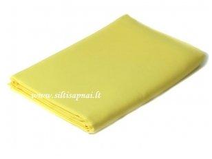 Satino paklodė su guma (geltona)