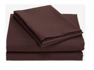 """Satino paklodė su guma """"Chocolate"""" (180x200 cm). Dėmesio – paklodės sijone yra audinio sujungimas."""