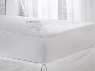 Neperšlampanti frotinė paklodė su guma 200x200 cm