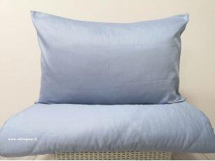 "Satino patalynės komplektas ""DISCOVERY"" (Sea blue) (140x200 cm, 50x70 cm)"