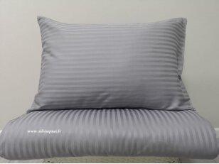 "Satino patalynės komplektas ""Charm"" (bluish gray) (140x200 cm, 50x70 cm)"