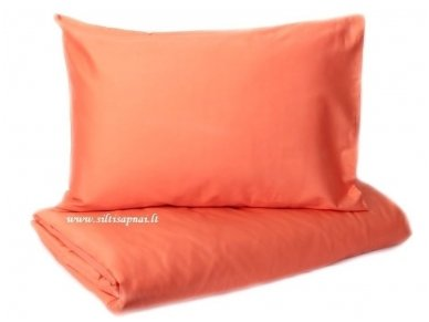 """Satino patalynės komplektas  """"DISCOVERY"""" (orange) (140x200 cm, 50x70 cm)"""