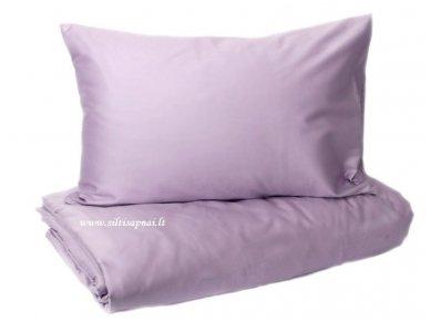 "Satino patalynės komplektas  ""DISCOVERY"" (lilac) (140x200 cm, 50x70 cm)"
