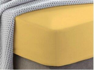 """Siuvama medvilnės paklodė su guma """"Pale marigold"""""""
