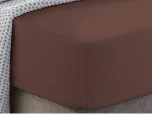 """Siuvama medvilnės paklodė su guma """"Brunette"""""""