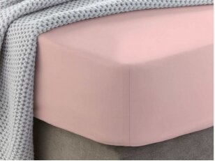 """Siuvama medvilnės paklodė su guma """"Gossamer pink"""""""