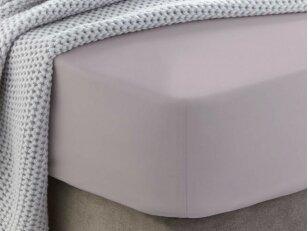 """Siuvama medvilnės paklodė su guma """"Cloud gray"""""""