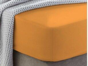"""Siuvama medvilnės paklodė su guma """"Blazing orange"""""""