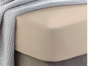 """Siuvama medvilnės paklodė su guma """"Ivory cream"""""""