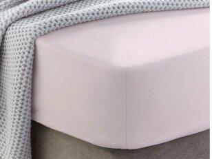 """Siuvama medvilnės paklodė su guma """"Heavenly pink"""""""