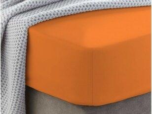 """Siuvama medvilnės paklodė su guma """"Orange peel"""""""