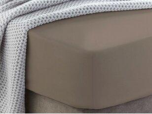 """Siuvama medvilnės paklodė su guma """"Taupe gray"""""""