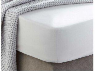 """Siuvama medvilnės paklodė su guma """"White"""""""