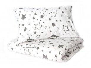 """Siuvama patalynė vaikams """"Žvaigždžių lietus"""" (110x140 cm, 40x60 cm)"""
