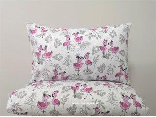 """Antklodės užvalkalas vaikams """"Flamingai"""" (110x140 cm)"""